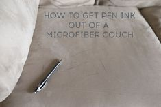 If you have kids in your house then you'll want to pin this simple tip for how to get ink out of a microfiber couch! All you need is rubbing alcohol and it comes right up.