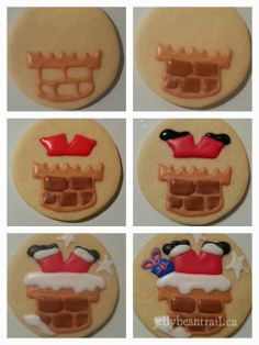 Picture tutorial - Santa Cookies...Someday when I have all the time in the world to decorate cookies!!