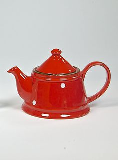COUNTRY RUSTY RED Teapot Red Teapot, Stoneware, Tea Pots, Shabby Chic, Mugs, Country, Tableware, Collection, Design