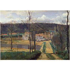 "Trademark Art ""Ville d'Avray 1820"" Canvas Art by Jean Baptiste Corot"