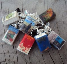 Personalized book charm bracelets, perfect for the bibliophile