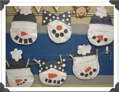 First Grade Blue Skies: Snowman Art