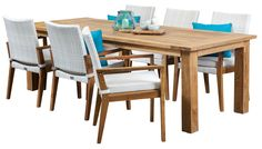 Colibri White 6 Seater Recycled Teak Table, outdoor dining furniture, outdoor dining settings, outdoor dining table and chairs