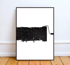 Affiche noir et blanc, affiche minimaliste - Affiche format A3 : Affiches, illustrations, posters par kiki-collagist