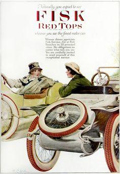Fisk Red Top Tires (1917) Vintage Ad