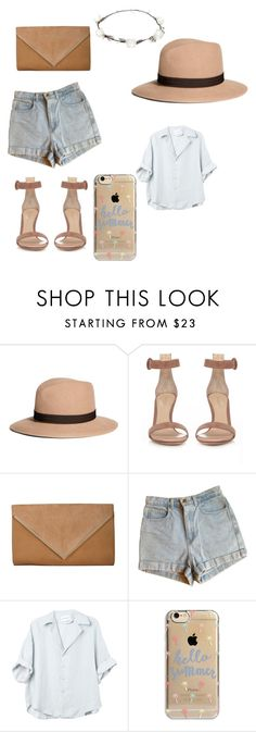 """""""Untitled #52"""" by bellehovhannisyan ❤ liked on Polyvore featuring Brooks Brothers, Gianvito Rossi, American Apparel, Agent 18 and Lipsy"""