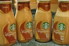 Prairie Mother - DIY Starbucks Mocha Frappuccinos(Copycat Recipe) I have to do this.  I have all these bottles I feel guilty throwing away.