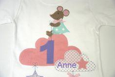 Langarmshirts - Geburtstagsshirt -Kleines Mäuschen- - http://de.dawanda.com/product/100841931-geburtstagsshirt-kleines-maeuschen