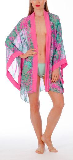 Lasata Bloom 100% silk kimono by London-based Liz Nehdi   Ships worldwide
