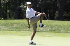 How many times did President Barack Obama play golf while in office?