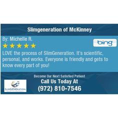 LOVE the process of SlimGeneration. It's scientific, personal, and works. Everyone is...