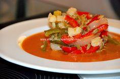 #Gazpacho tibio de verduras al horno