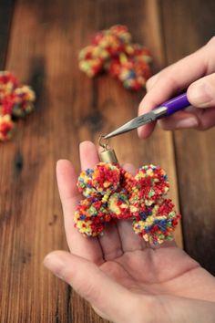 Whip Up A Super-Chic DIY Pom Pom Necklace