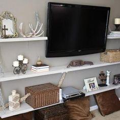 Media Room Shelves DIY {Shelving & Storage} - Kyle's room