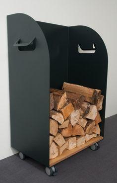 Holzaufbewahrung Höhe 90 Breite 60cm, mit Schublade, Metall anthrazit, Brennholz, Kamin, Holz, Kachelofen, Lagerung: Amazon.de: Küche & Haushalt