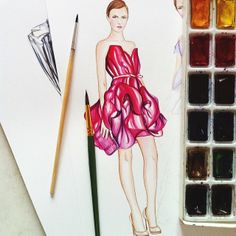 #dollmemories #marchesa #dress #fashion #fashionillustration
