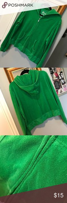 ⭐️EUC⭐️ vintage Victoria's Secret cropped hoodie ⭐️EUC⭐️ vintage Victoria's Secret cropped hoodie. Size XL. Terry cloth material in a bright green. Very cute jacket. Been hanging in closet time to let it go. No stains, rips, or damage. Victoria's Secret Tops Sweatshirts & Hoodies