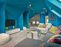 32 Cool Hangout Room Design For Your House, Multi-purpose room ideas With the suitable multi-purpose room ideas, your house can give quite a few functions, even without a lot of space. Awesome Bedrooms, Cool Rooms, Dream Rooms, Dream Bedroom, Teen Hangout Room, Teen Rooms, Teen Bedroom, Teenage Girl Rooms, Attic Bedroom Ideas For Teens