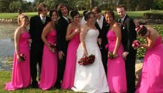 Pink Bridesmaid Dresses for Cheerful Wedding Photos