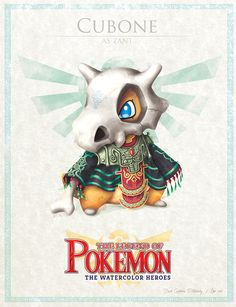 "Cubone - pxlbyte: "" The Legend of Pokemon Graphic designer David Pilatowsky is the man behind these Pokemon - Legend of Zelda mashups. These were of my favourites, you can find the multi-part gallery here. Fan Art Pokemon, Les Pokemon, Pokemon Sets, Cute Pokemon, Pokemon Stuff, Digimon, Sailor Moon, Pokemon Mignon, Pokemon Crossover"