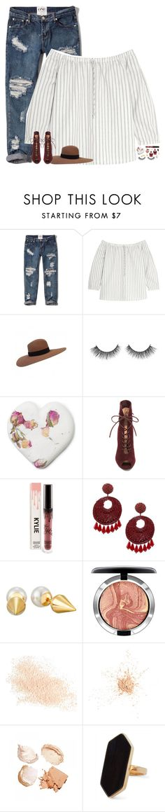 """""""caution tape around my heart"""" by kthayer01 ❤ liked on Polyvore featuring Abercrombie & Fitch, Madewell, Yves Saint Laurent, Gianvito Rossi, Kenneth Jay Lane, Majorica, MAC Cosmetics, Eve Lom, Jaeger and Allurez"""