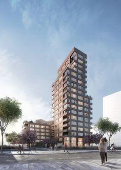 Work – K.DSL Public Architecture, Architecture Collage, Architecture Visualization, Residential Architecture, Amazing Architecture, Cambridge Street, Render Image, 3d Max, Facade