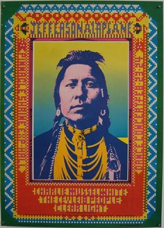 1968 Jefferson Airplane poster  designed to appear as beadwork...Nice!