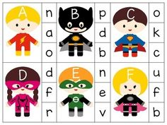 Preschool Teachers - FOLLOW THIS NEW SELLER!! Super Letters Alphabet Clip Cards