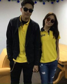 This is the pretty Kathryn Bernardo and the handsome Daniel Padilla holding hands together and smiling for the camera while preparing for the Liberal Party campaign sortie in Iloilo City, Iloilo last April 2016, during its campaign in Iloilo City. Indeed, KathNiel are proud supporters of Mar Roxas and Leni Robredo for Halalan 2016. #KathNiel #KathNielBernadilla #RoxasRobredo #Halalan2016 #IpanaloangPamilyangPilipino