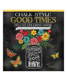 Take a look at this Chalk-Style Good Times Deluxe Coloring Book today!