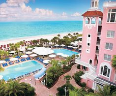 Don CeSar Beach Resort, St. Pete, Florida...a great place to vacation and the food is great
