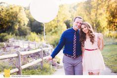 Engagement Photos,  Engagement session with Balloons www.Sharayaphoto.com