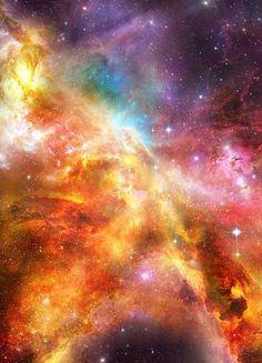 Orange/Yellow Galaxy Inspiration
