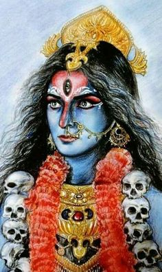 Indian Goddess Kali, Goddess Art, Durga Goddess, Shiva Art, Krishna Art, Shiva Shakti, Kali Shiva, Lord Shiva, Kali Hindu