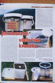Jakubovské včelařské krmítko - článek v časopise včelařství Pictures