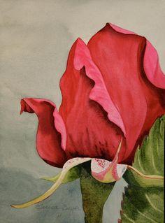 Rose One Painting by Teresa Beyer