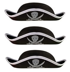 Foam Pirate Hats - wear these instead of cone-shaped party hats at pirate themed party! #pirate #pirateparty