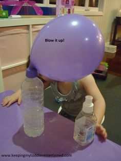 Blow it up Sensory Activities, Educational Activities, Kids Fun, Diy For Kids, Acid Base, Chemistry Experiments, Gifted Education, Preschool Science, School Projects