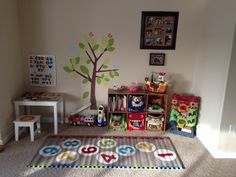 Play area and learning for those living in a small home with a busy toddler