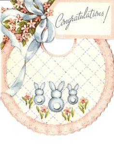Vintage baby card