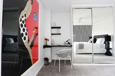 Bally Print in Master Bedroom