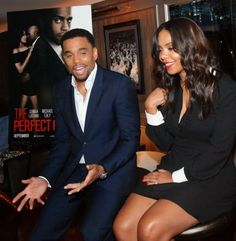 "Michael Ealy talks ""The Perfect Guy"" and the lack of Black production crews in Hollywood. Entertainment Blogs, Michael Ealy, Perfect Guy, Sanaa Lathan, Celebs, Celebrities, Black Love, Black Media, Green Eyes"