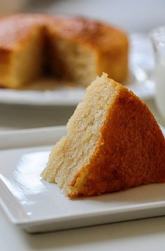 Eggless sponge cake recipe, how to make an easy sponge cake with no eggs or butter. This eggless sponge cake has step by step photos too.