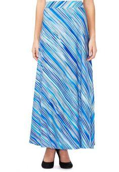 Cato Fashions Mitered Stripe Maxi Skirt-Plus #CatoFashions