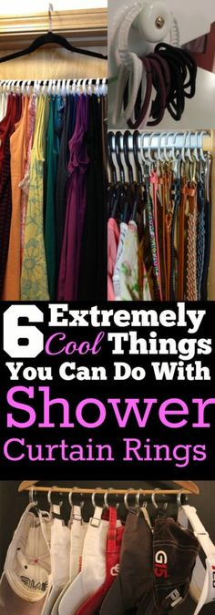 You HAVE to check out these cool shower curtain ring hacks! They are super useful and easy!