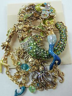 Kirks Folly RIP TIDE TREASURES MERMAN Pin Brooch Enhancer NEW! Merman, Fantasy Jewelry, Pegasus, Brooch Pin, Jewlery, Unicorn, Enamel, Fashion Jewelry, Fairies