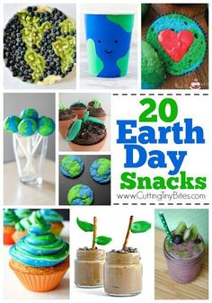 20 Earth Day Snacks for Kids! Fun choices for toddlers, preschoolers, older kids, and adults! Toddler Crafts, Toddler Activities, Activities For Kids, Crafts For Kids, Preschool Ideas, Classroom Activities, Classroom Ideas, Earth Day Projects, Earth Day Crafts