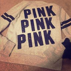 Grey VS Pink Jacket Size M.                                                                         Looking to either sell or trade for a large.             It has a little pilling near the armpit area, my noticeable while wearing. It's so cute, just a bit too small around the bicep. PINK Victoria's Secret Jackets & Coats