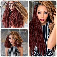 "Sales Promotion 16"" Havana Mambo Twist Crochet Braids Hair 80g Synthetic crochet…"