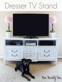 $50 Dresser Turned TV stand